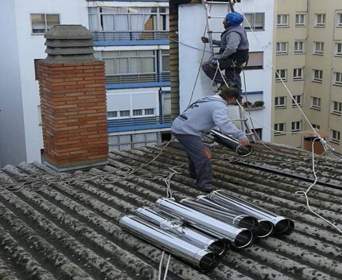 Cambiar chimenea en Carrizo