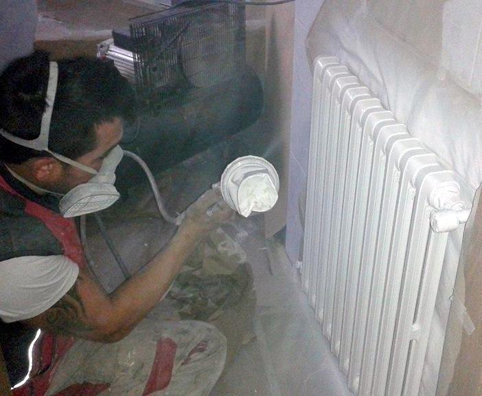 pintar radiadores Onzonilla