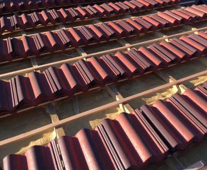 Tejas en reforma de tejado